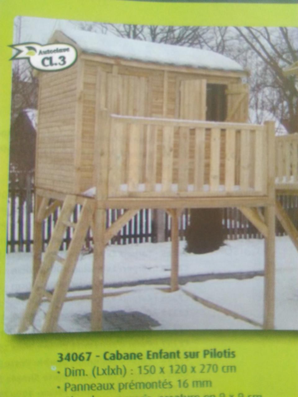 cabane enfant sur pilotis cabanes enfant 27 flbc. Black Bedroom Furniture Sets. Home Design Ideas