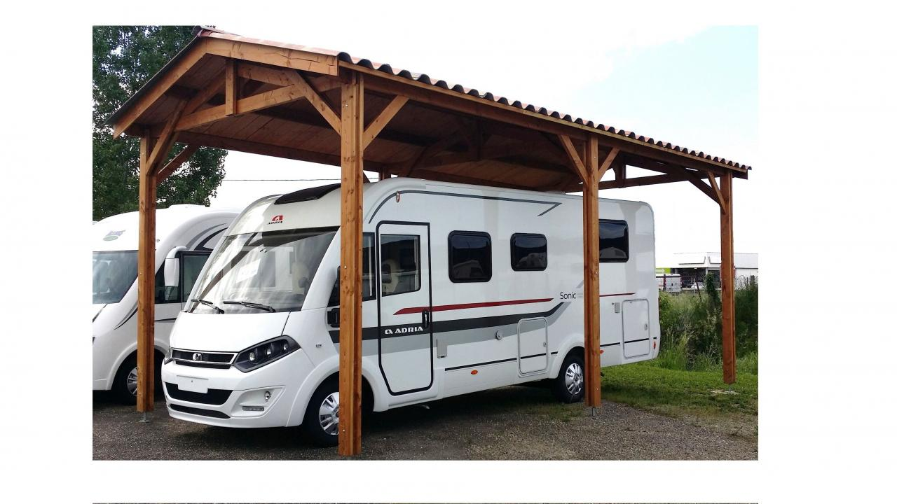 carport camping car mod le bourgogne auvents carports en bois 27 flbc. Black Bedroom Furniture Sets. Home Design Ideas